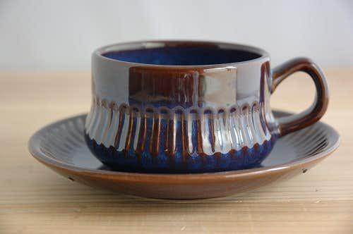 GEFLE/ゲフル/KOSMOS/カップ&ソーサー(艶ありブルー)の商品写真