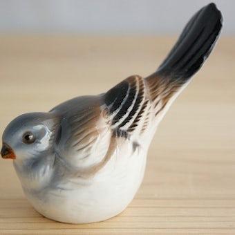 スウェーデンで見つけた陶器の小鳥のオブジェの商品写真