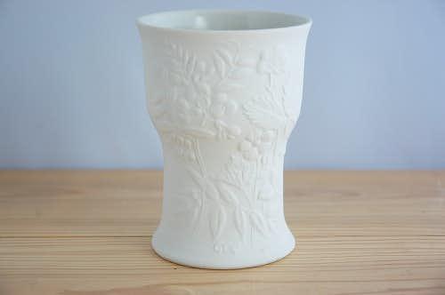 ARABIA/アラビア/素焼きの花模様が上品な花瓶の商品写真