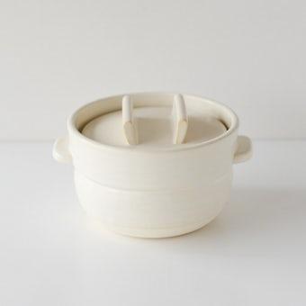 【取扱い終了】かもしか道具店/ごはんの鍋/一合炊き(白)の商品写真