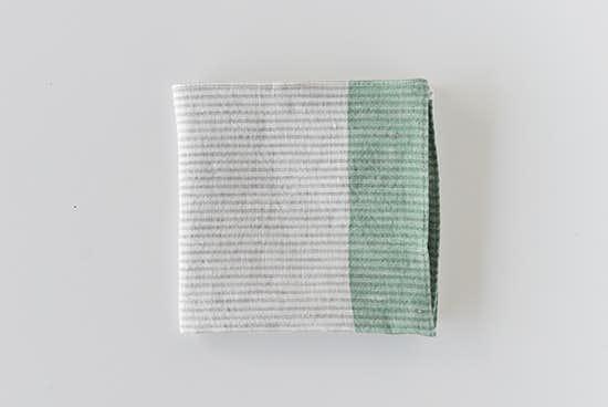 motta/ハンカチ/細ストライプ(ミドリ)の商品写真