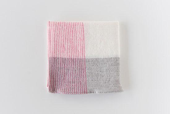 motta/ハンカチ/ストライプ(ピンク)の商品写真