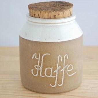 スウェーデンで見つけた陶器のコーヒーキャニスターの商品写真