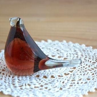スウェーデンで見つけたガラスの小鳥オブジェの商品写真