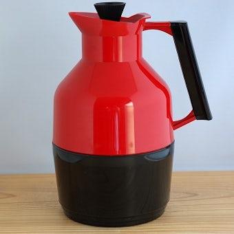 スウェーデンで見つけたプラスティック製ヴィンテージ魔法瓶(レッド)の商品写真