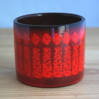 Upsala Ekeby/ウプサラエクビイ/植木鉢(レッド)の商品写真