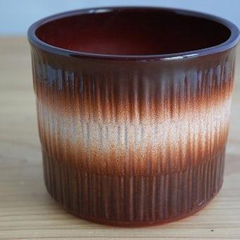 スウェーデン製の古い植木鉢(ブラウン)の商品写真