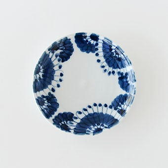九谷焼/高原真由美/菊集め/5寸皿(径:約15cm)の商品写真