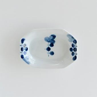 九谷焼/高祥吾/ぶどう/隅切り長小皿の商品写真