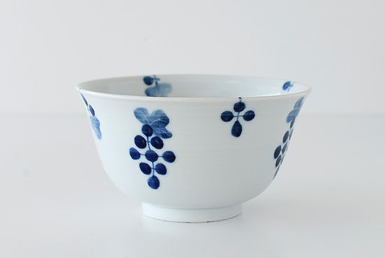 九谷焼/高祥吾/ぶどう/丼(径:約16.5cm)の商品写真