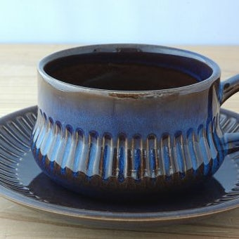 Gefle/ゲフル/KOSMOS/コスモス/カップ&ソーサー(艶ありブルー)の商品写真