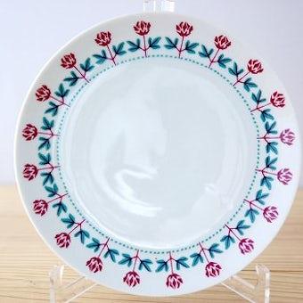 ウプサラエクビイ/KARLSKRONA釜/花模様の可愛いプレート(17.5cm)の商品写真