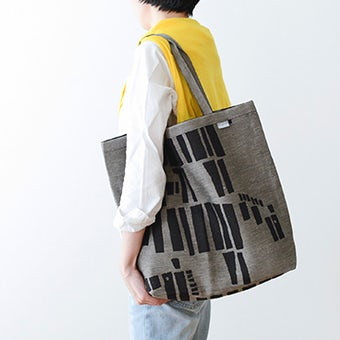 LAPUAN KANKURIT / ラプアン・カンクリ / トートバッグ / しまうま柄(ブラック×ナチュラル)の商品写真