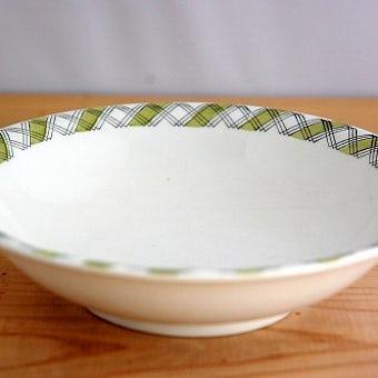 Upsala Ekeby/ウプサラエクビイ/RUTER/チェック模様が可愛いスープボウルの商品写真