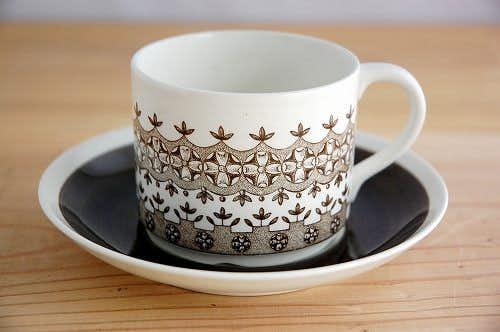 RORSTRAND/ロールストランド/REX/繊細な花模様が魅力的なコーヒーカップ&ソーサーの商品写真