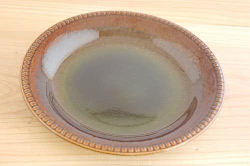 ゲフル(Upsala Ekeby/ウプサラエクビイ)/OLIVE/オリーブ/プレート(艶ありグリーン)の商品写真