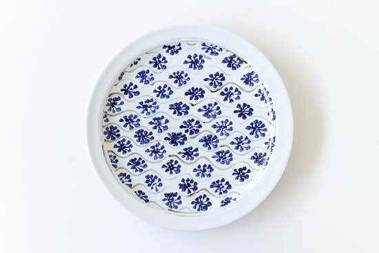 瀬戸焼/藍色花模様/プレート(直径約24.5cm)の商品写真