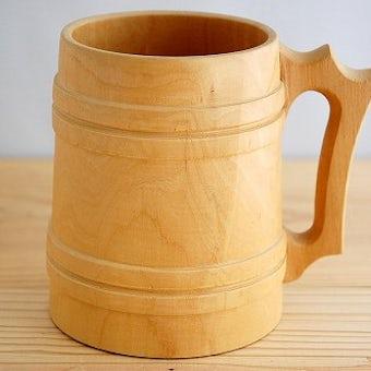 スウェーデンで見つけた木製ビアマグの商品写真