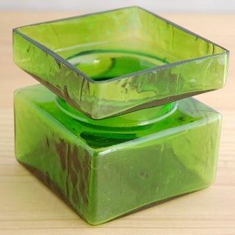 フィンランド/Riihimaen Lasi社製/ガラスの花瓶(グリーン)の商品写真