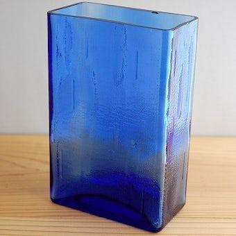 デンマークで見つけたガラスの花瓶(大)ブルーの商品写真