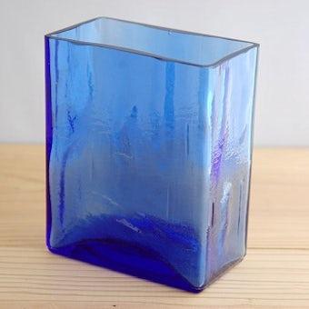 デンマークで見つけたガラスの花瓶(小)ブルーの商品写真