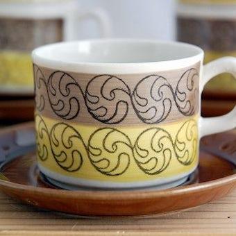 GEFLE(Upsala Ekeby)/ゲフル(ウプサラエクビイ)/コーヒーカップ&ソーサー5客セット(少々難あり)の商品写真