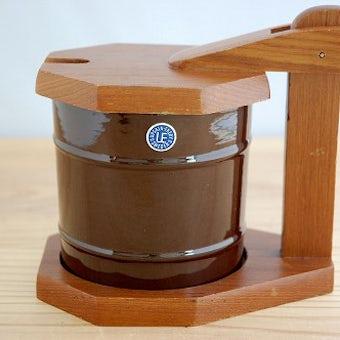 Upsala Ekeby/ウプサラエクビイ/木製カバー付きマスタードポットの商品写真