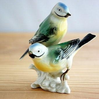 スウェーデンで見つけた小鳥のオブジェ(止まり木)の商品写真