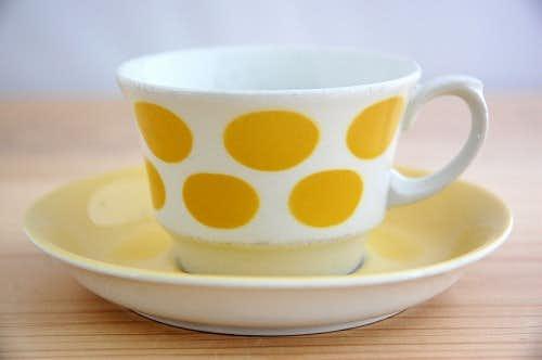 ARABIA/アラビア/コーヒーカップ&ソーサー(イエロードット)の商品写真