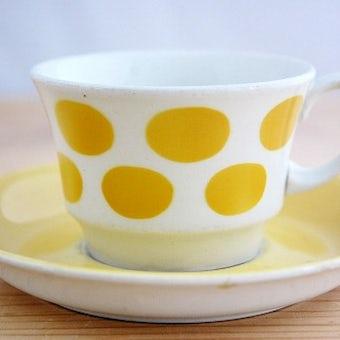 ARABIA/アラビア/コーヒーカップ&ソーサー(イエロードット)少々難アリ1の商品写真