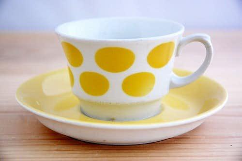 ARABIA/アラビア/コーヒーカップ&ソーサー(イエロードット)少々難アリ2の商品写真