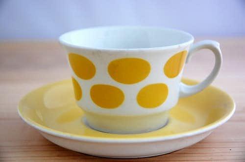ARABIA/アラビア/コーヒーカップ&ソーサー(イエロードット)少々難アリ3の商品写真