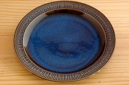 GEFLE(Upsala Ekeby)/ゲフル/KOSMOS/デザートプレート(18cm)艶ありブルーの商品写真