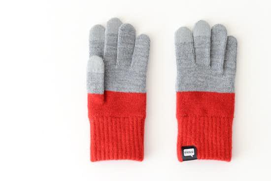 【今季終了】EVOLG/2TON/ショート手袋(グレー×レッド)の商品写真