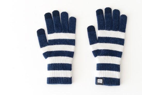 【次回10月頃入荷予定】EVOLG/MARSH/ショート手袋(ディープブルー×ホワイト)の商品写真
