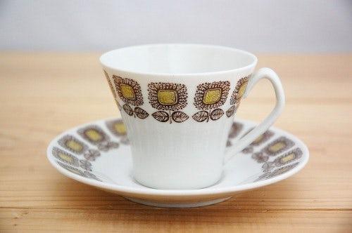 Upsala Ekeby/ウプサラエクビイ/HELIANTHUS/コーヒーカップ&ソーサー(僅かに難アリ)の商品写真