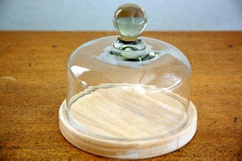 スウェーデンで見つけたガラスチーズドーム(中)の商品写真