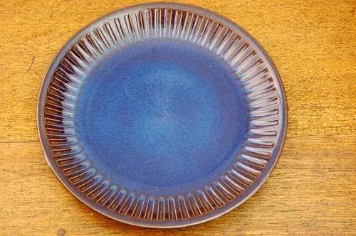 GEFLE(upsala ekeby)/ゲフル/KOSMOS/コスモス/サービスプレート(26.5cm)艶ありブルーの商品写真