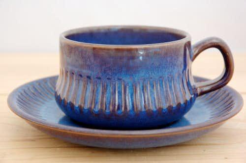 GEFLE(upsala ekeby)/ゲフル(ウプサラ・エクビイ)/KOSMOS/コスモス/カップ&ソーサー(艶ありブルー)の商品写真