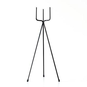 植木鉢スタンド/フォーク・ブラック(径11cm/高さ60cm)の商品写真