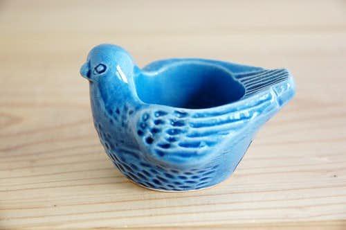 スウェーデン/JIE/小鳥のキャンドルスタンド(ブルー)の商品写真
