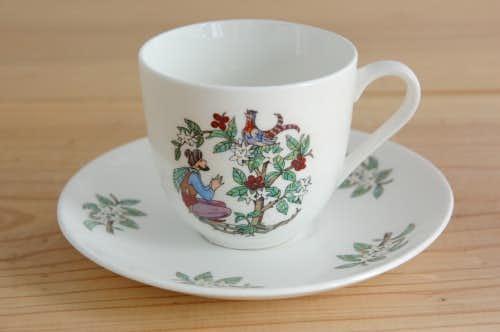 GUSTAVSBERG/グスタフスベリ/珍しいコーヒーカップ&ソーサー(男性と木と鳥)の商品写真