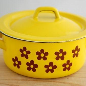 スウェーデンで見つけたホーロー製可愛い花柄のお鍋の商品写真