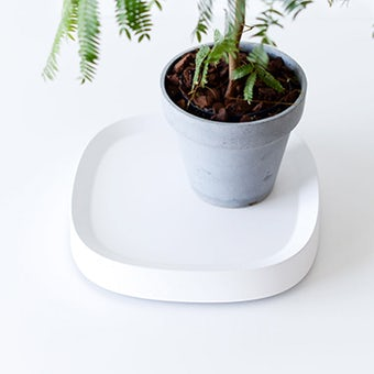 tidy / キャスター付き鉢皿 / ホワイトの商品写真