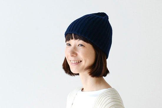 【取扱終了】mature ha. /マチュアーハ/ニット帽(ネイビー)の商品写真