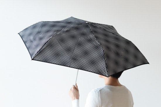 【取り扱い終了】Lisbet Friis/折りたたみ傘/Flower Power mini(ブラック)の商品写真