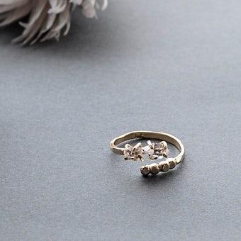 【次回入荷未定】Vlas Blomme/ヴラスブラム/ハーキマーダイヤモンドリング(フリーサイズ)の商品写真