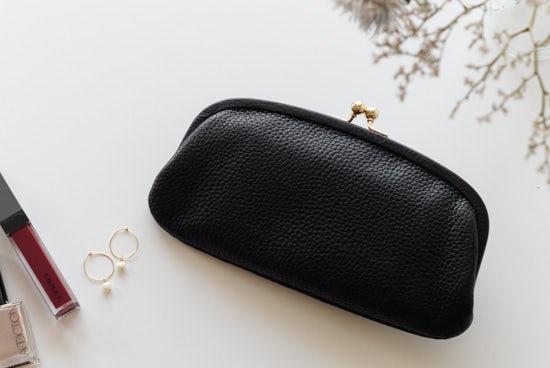 【取扱終了】StitchandSew/ステッチアンドソー/がま口財布(ブラック)の商品写真
