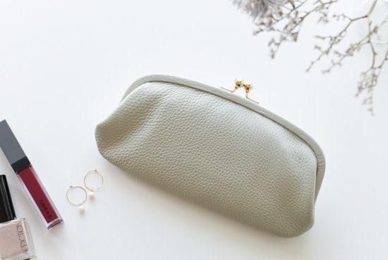 【取り扱い終了】StitchandSew/ステッチアンドソー/がま口財布(グレー)の商品写真
