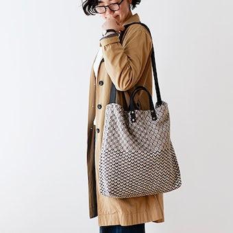 trois temps/トロワトン/手織り2WAYバッグの商品写真